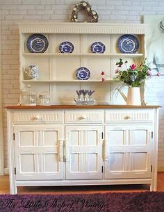 Stunning Priory Oak Ercol Style Dresser Sideboard Cupboard Cabinet Shabby Chic in Home, Furniture & DIY, Furniture, Cabinets & Cupboards | eBay