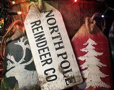 North Pole Reindeer Co Christmas decor Tree Wood Tags Distressed Christmas tree Cabin Christmas Rust Cabin Christmas, Christmas Wood, Primitive Christmas, Christmas Signs, All Things Christmas, Christmas Tree Decorations, Christmas Ornaments, Christmas Holidays, Christmas Ideas