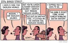 """221b Baker Street"" (my cartoon for yesterday's @guardianreview) #SherlockHolmes"