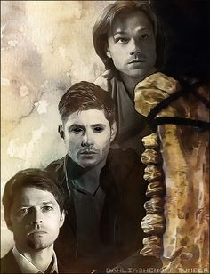 TFW in season 10 of Supernatural. Team Free Will - Season 10 Supernatural Fandom, Castiel, Supernatural Drawings, Supernatural Wallpaper, Dean Winchester, Winchester Brothers, Jensen Ackles, Demon Dean, Memes