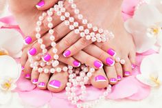beautiful manicure and pedicure