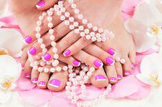 beautiful manicure and pedicure