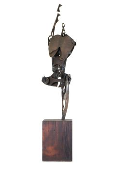 Marcus White, Untitled, Steel and Wood,  12 x 11.5 x 32.5 inches.