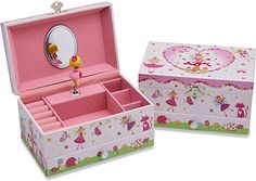 Amazon.com: Lucy Locket Enchanted Fairy Musical Jewelry Box for Children - Glittery Kids Music Box with Ring Holder: Toys & Games Kids Jewelry Box, Musical Jewelry Box, Enchanted Fairies, Music For Kids, Toy Chest, Musicals, Decorative Boxes, Fairy, Ring