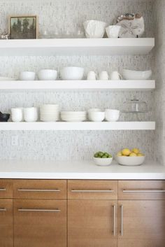 Organization Inspiration: Tidy Kitchens. For this particular kitchen cabinets and backsplash