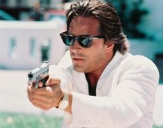 miami vice. i actually didn't get to see 1st run episodes because we didn't have cable when i was growing up. but i have seen since then & know why everyone loved it so much!