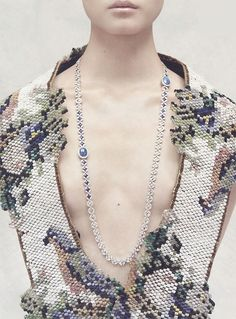 Maison Martin Margiela Artisanal (Necklace Louis Vuitton) for Vogue Russia September, Photographed by Julia Noni.