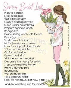 Items similar to 2019 Spring Bucket List - Printable - Heather Stillufsen Spring - Bucket List on Etsy