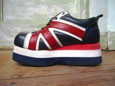 Vinage 1990s Demonia British Platform Shoes by rockchicknetherland, $50.00
