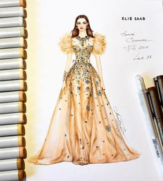 New fashion design dress sketches elie saab 65 ideas Trendy Fashion, Fashion Art, Fashion Models, Fashion Show, Fashion Clothes, Dress Fashion, Vintage Fashion, Fashion Outfits, Fashion Drawing Dresses