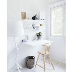 Wandkast met tafel small, wit