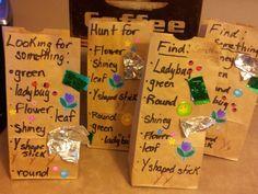 Treasure hunt bags for Burke's party