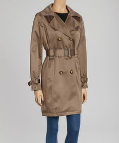 Truffle Belted Trench Coat