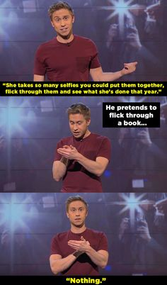 When he had a rant about Kim Kardashian's Paper cover having a bigger reaction on the internet than Philae spacecraft landing successfully on a comet. | 14 Times Russell Howard Nailed It