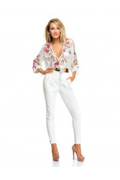 Jumpsuit 17113 Glam Dresses, Street Outfit, Fall Collections, White Jeans, Jumpsuit, Pants, Outfits, Shopping, Fashion