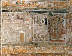 Tombe de Néférentep - scène à l'extérieur de la tombe