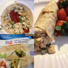 .chicken breakfast burrito: easily sub out for faux chicken pieces