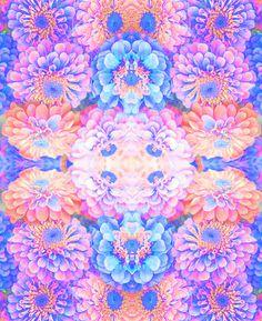 Pyschedelic floral Art Print-Laura Ruxton