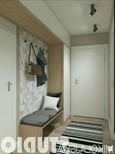 Greatest 15 Fashionable Entryway Concepts With Bench Entryway Closet, Hallway Storage, Interior Design Basics, Interior Design Living Room, Hallway Designs, Closet Designs, Flur Design, Design Design, Hallway Inspiration