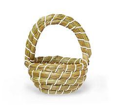 Kleiner Henkel-Korb aus Halmen der Flatterbinse, händisch im oststeirischen Hügelland gebunden – jetzt bei Servus am Marktplatz kaufen. Wicker Baskets, Woven Baskets