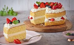 A simple sponge cake recipe with the delicious addition of white chocolate.