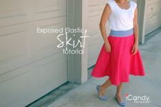 Exposed Elastic Skirt Tutorial