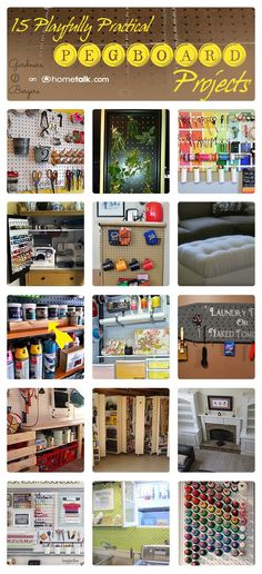 15 Playfully Practical {Pegboard} Projects | curated by 'Garden Berger' blog!