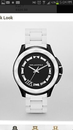 White and black Karl Lagerfeld watch