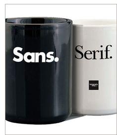Our new Sans-serif  Coffee Mug