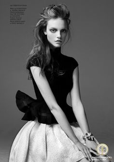 """Nimuë Smit featured in the glass Magazine editorial """"Happy Girl"""" from December 2012 , showing Christian Dior"""