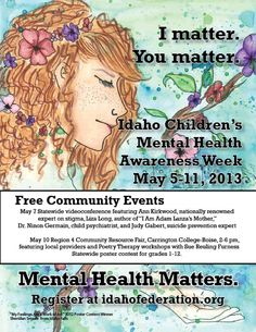 May 9 is Children's Mental Health Day Idaho's Poster