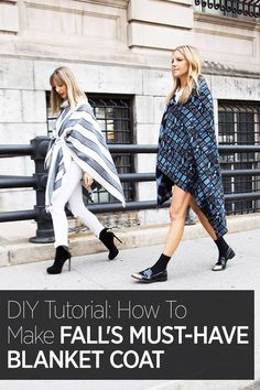 Couldn't get your hands on the Burberry monogrammed blanket coat of the season? Here's how to make your own: