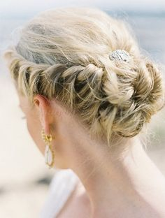 vintage braided twisted wedding updo - Google Search