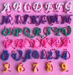 Cursive English Alphabet Silicone Mold