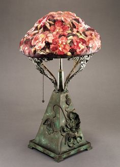 Aer Nouveau - Pairpoint Lamp Base with no. 601 Azaleas Shade by Mt. Washington, American 1900– 1903