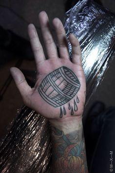 Tattoo by MXM Wine Tattoo, Tattoo You, Palm Tattoos, Black Tattoos, Tatoos, East River Tattoo, Knuckle Tattoos, Tattoos For Lovers, Cool Tats