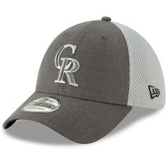separation shoes a46c9 0a0ed Men s Colorado Rockies New Era Graphite Neo 39THIRTY Flex Hat,  25.99