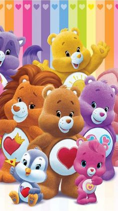 Care bears and friends Bear Wallpaper, Love Wallpaper, Cartoon Wallpaper, Care Bears, Bear Cartoon, Cute Cartoon, Animal Drawings, Cute Drawings, Bear Coloring Pages