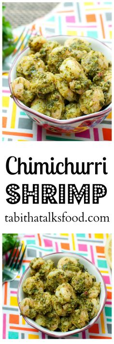 This easy shrimp recipe is made with a fresh cilantro and parsley chimichurri sauce and can be whipped up in just 20 minutes!