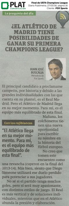 FOX Sports: Final de la UEFA Champions League en el diario Publimetro de Perú (27/05/16)
