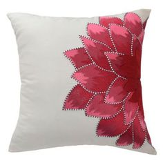 Sewing Pillows Blissliving Home 'Dahlia' Pillow available at Sewing Pillows, Diy Pillows, Decorative Pillows, Throw Pillows, Cushion Cover Designs, Cushion Covers, Pillow Covers, Hand Embroidery, Embroidery Designs