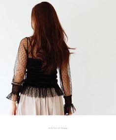 【楽天市場】透け感ドットのキャミ付きトップススタイル3/23新作:Style for mom