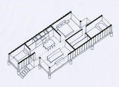 Versandbehälter Zu Hause Mit Zwei 40 Fuß  Container9Container Haus |  Container Haus