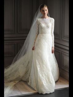 Modest wedding gown!!! LOVE IT #PerfectMuslimWedding.com