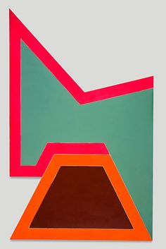 Frank Stella, Wolfeboro IV, 1966, Fluorescent alkyd and epoxy paints on canvas (160 1/4 x 100 x 4 in.)