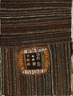 Kutuwulumi Purawarrumpatu (Kitty Kantilla) / Jilamara , 1994 natural earth pigments on paper   72 x 53 cm