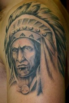 Indian art tattoos are traditional and admirable. Here we present 15 Best and popular Indian tattoo designs which are highly being sported by tattoo lovers. Indian Tattoos For Men, Red Indian Tattoo, Indian Chief Tattoo, Native Indian Tattoos, Indian Skull Tattoos, Indian Tattoo Design, Native American Tattoos, Queen Tattoo, Warrior Tattoos