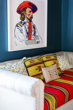 kinda want this Custer print. Home Living Room, Living Room Designs, Peppermint Bliss, Bright Decor, Room Of One's Own, Western Chic, Nursery Design, Andy Warhol, Living Room Inspiration