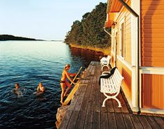 A seaside sauna on Föglö, one of 6,500 islands in the Åland Archipelago