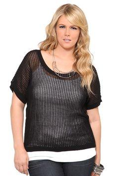 Black Open Knit Pullover #IAmTorrid